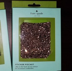 Kate Spade Glitter Sticker pocket